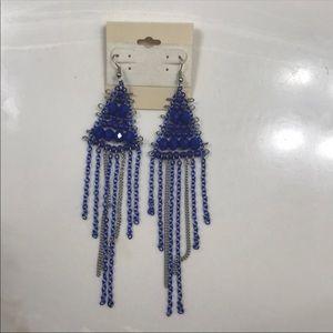 Earring dangle blue